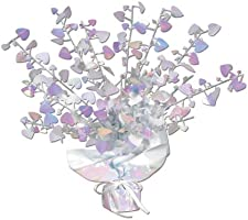 Beistle 70805-OP Opalescent Heart Gleam 'N Burst Centerpiece, 15-Inch, 1 Per Package