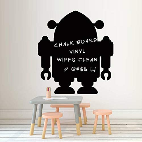 qazwsx DIY Robot Pizarra Etiqueta De Vinilo De Dibujos Animados ...