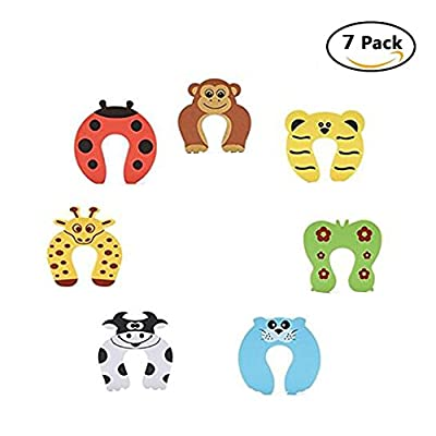 DoGeek Foam Door Stopper Cushion Cartoon Animal Baby Finger Pinch Guard Finger Protection for Children Safety