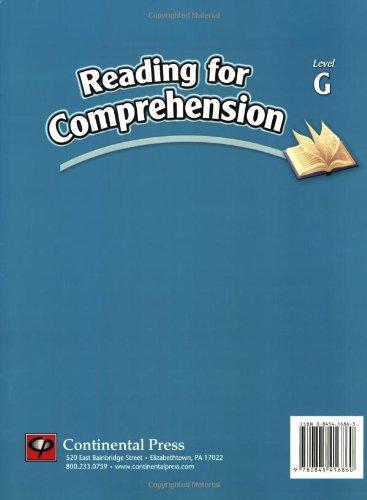 Reading Comprehension Workbook: Reading for Comprehension, Level G ...