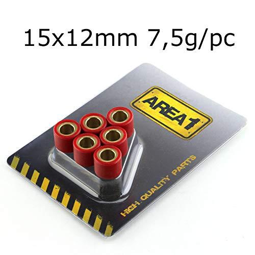 Variomatikrollen gewichten 15×12 6 stuks 7,5g (15x12mm)