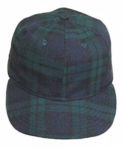 (Ideal Cap Co. Black Watch Plaid Vintage Baseball Cap 1940's Style 7 1/2 Navy/Green )