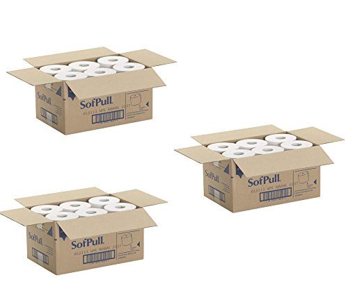 Georgia Pacific Professional 26610 Hardwound Paper Towel Roll, Nonperforated, 9 x 400ft, White EfLkiq, Case of 18 Rolls by Georgia Pacific