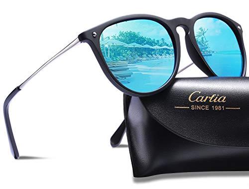 - Carfia Vintage Polarized Sunglasses for Women Classic Designer Style 100% UV400 Protection