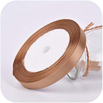 kawayi-桃 25ヤード/ロールグログランサテンリボン結婚式の誕生日パーティーの装飾DIY弓クラフトリボンカードギフトラッピング用品-27-15mm