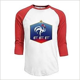 free shipping 42420 de2d2 Men's France National Football Team Logo 100% Cotton 3/4 ...
