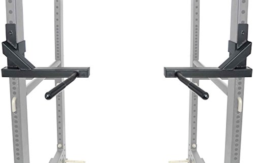 Series Dip Attachment Bars for 2''x3'' HD Power Rack Strength Training by Eight24hours