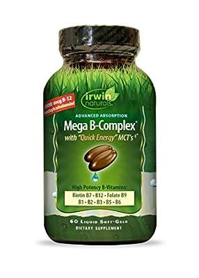 Irwin Naturals Mega B Complex Diet Supplement, 60 Count