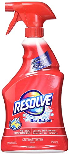 Resolve Oxi-Action Pre-Treatment Laundry Stain Remover Spray, 2 Pk x 22 Fl.Oz / 650 Ml Each