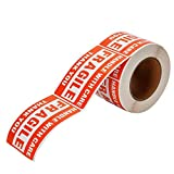 Fragile Stickers, 3'' x 5'' 1 Roll 500 Labels Fragile - Handle with Care - Thank You Shipping Labels Stickers (500 Labels/Roll),CMC-BQ06 (1 Roll)