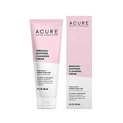 Acure | Seriously Soothing Cleansing Cream | 4 Oz. (Packaging May Vary) (Facial Cream Cleansing)