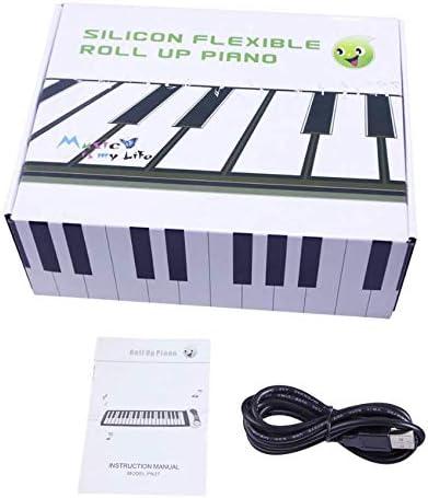 PN37キッズ37キーピアノシリコン素材付きハンディピアノ子供ギフトロールアップピアノ37キー