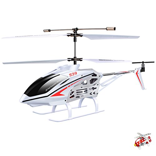 Original Syma S39 RC Helicopter with GYRO Toy Remote Control Helicopters 2.4G 3CH-White (Remote Control Toy Helicopters)