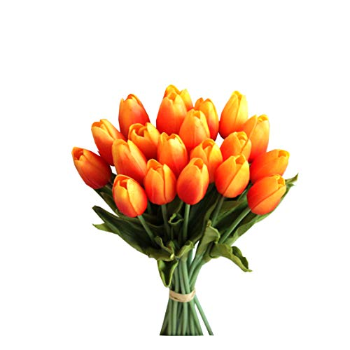 Mandy's 20pcs Orange Artificial Tulip Flowers 14