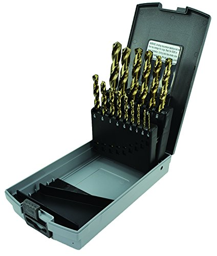 Morse Cutting Tools 18167 Jobber Length Drill Set, Cobalt, Fractional Size, 15-Pieces ()