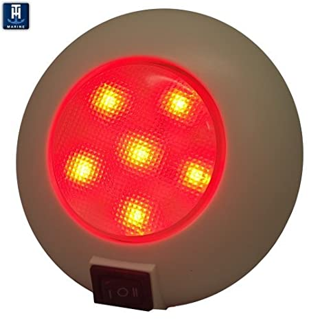 Amazon com th marine led 51830 dp dome light with switch red white boating interior lights sports outdoors