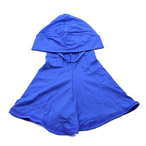 1Pc Blue Cotton Islamic Turban Head Wear Neck Chest Cover Bonnet Hijab Hat Scarf for Women
