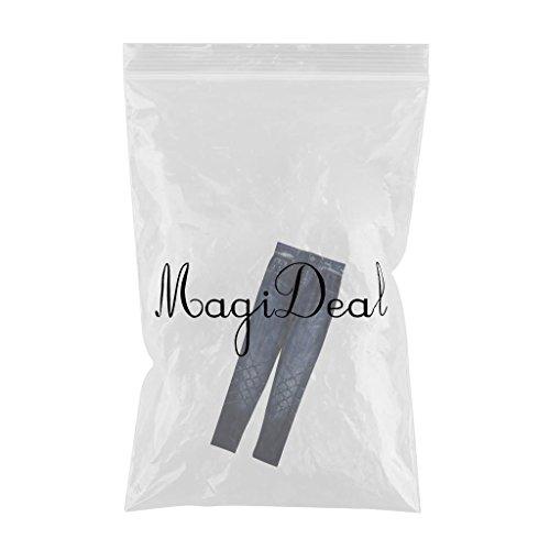 Sin Azules Yoga Pantalones Mujeres Deportes Estiramiento Jeggings de Magideal Gimnasio Azul Mezclilla Costura Leggings Ctpqxt