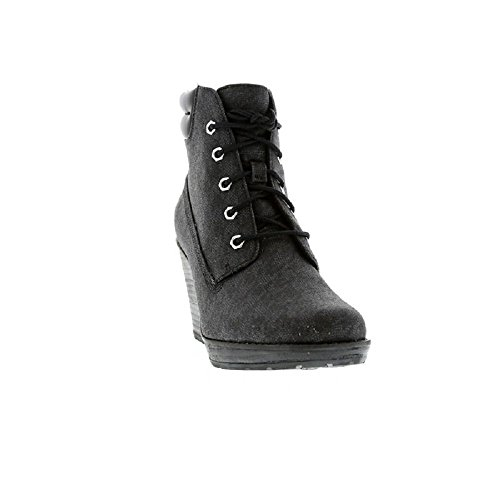 Timberland Earthkeepers Meridian 6inch Da Donna In Pelle Stivali Con Zeppa
