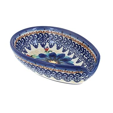 Polish Pottery Autumn Burst Small Spoon Rest