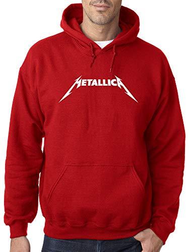 New Way 925 - Adult Hoodie Metallica Metal Rock Band Logo Unisex Pullover Sweatshirt Large Red ()