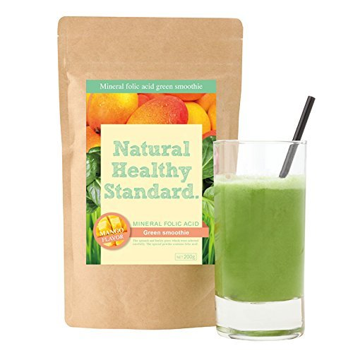Mineral folic acid green smoothie mango taste 200g by Natural Healthy Standard
