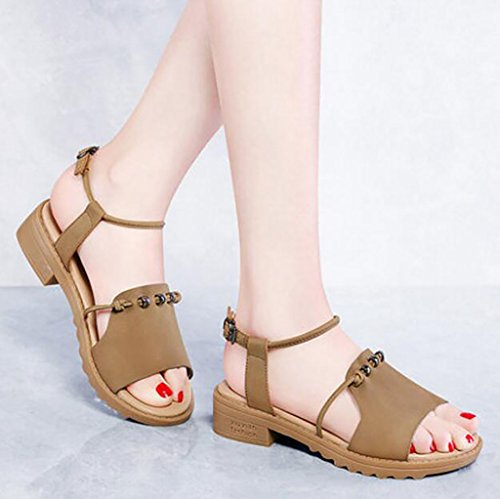 Fashion sandals summer the wild B female shoes flat sandals Flat shoes simple with Sandals B Size Rome student Color 40 6RwqOxEfz