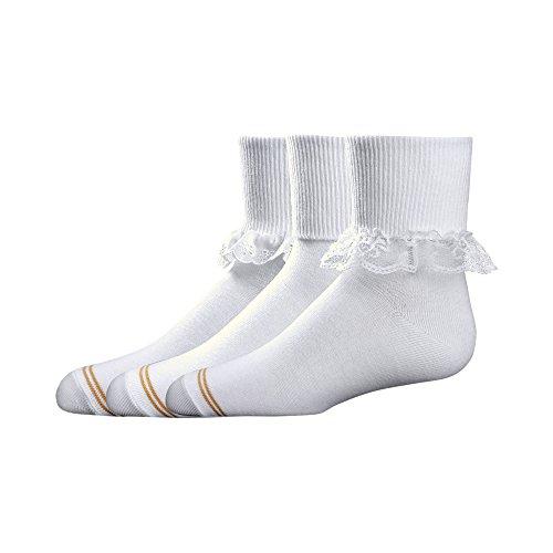 Gold Toe Big Girls  3 Pack Dressy Turn Cuff socks