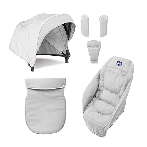 Chicco Color Pack Special Edition - Kit de accessorios para silla de paseo, color carbón Moonlight