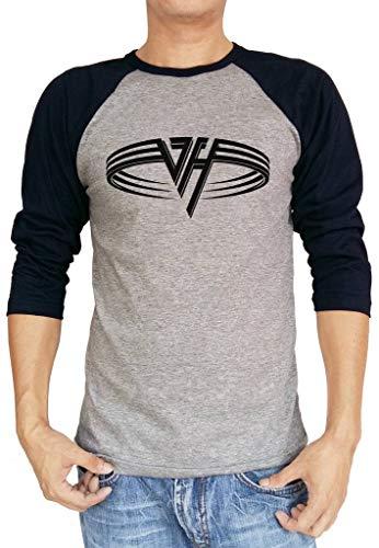 Van Halen Original Circle Logo Raglan Baseball Shirt. S to XXL