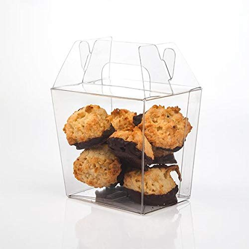 Upscale Gable Style Clear Take-Out Box | Small - Size: 3 7/16