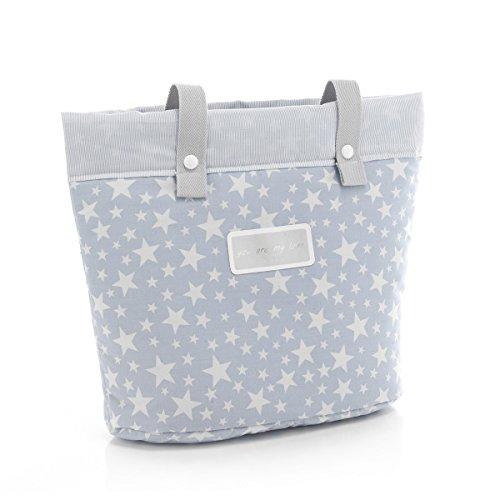 Cambrass Star - Bolso panadera, color gris Azul celeste