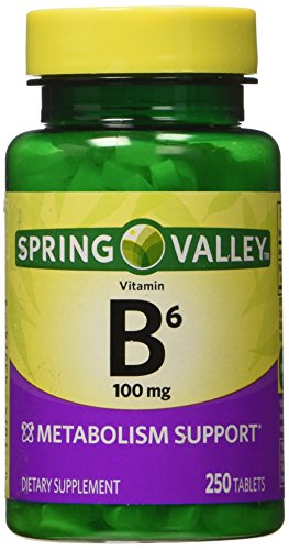 Spring Valley - Vitamin B-6 (Pyridoxine) 100 mg, 250 Tablets