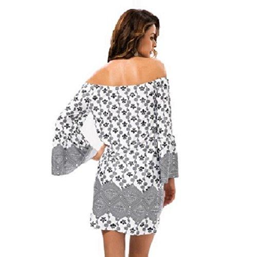 borlas manga M largos del mujeres estilo de Las tirantes mujeres corto de Tailandia Culater® vestir Blanco vestidos de nuevas afTO66Sq