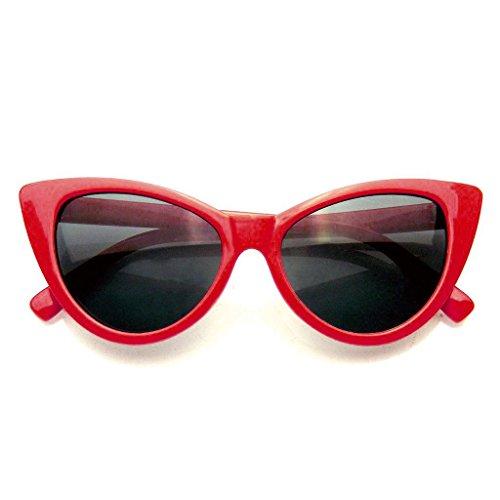 Fashion Classic Vintage Eyewear Cat Eye Designer Shades Frame Sunglasses (Red, - Sunglasses Online Trendy