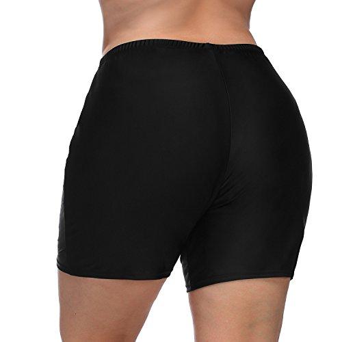 Vegatos Womens Black Plus Size Board Short Sports Swimsuit Tankini Bottoms Boardshorts by Vegatos (Image #4)