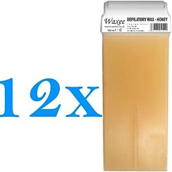 Roll on wax cartridge 100ml roller Natural HONEY- WAXEE (3 x 100ml roll-on wax cartridge)