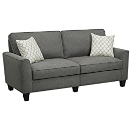 Serta RTA Astoria Collection 61″ Loveseat in Winter River Gray, CR46230P