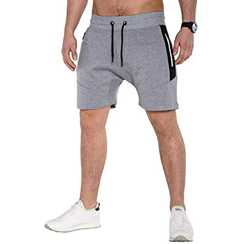 (ANJUNIE Classic Fit Short Men's Pure Color Button-Pocket Cargo Flat Front Wind Trunks)