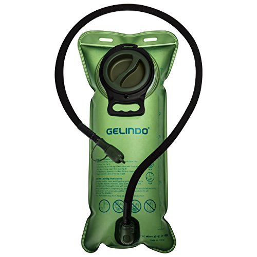 Gelindo Hydration Bladder 3 Liter Leakproof Water Reservoir, FDA Approved BPA-Free Hydration Backpack Replacement, Large Opening Quick Release Insulated Tube Shutoff Valve