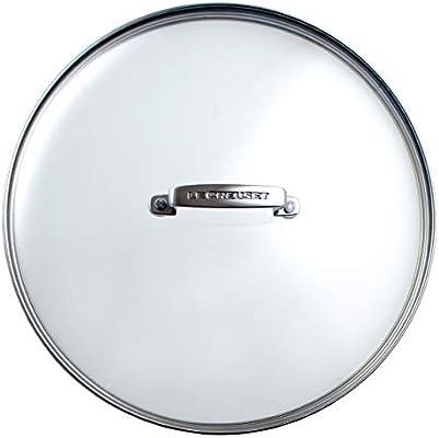 Le Creuset Tapa de cristal, Ø 28 cm, Práctico accesorio para las gamas de aluminio y hierro fundido, mango remachado de acero inoxidable