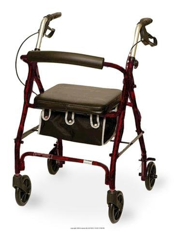 (EA) Junior Sized Rollator w/ Loop Brakes & Basket