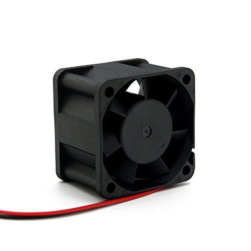 40mm DC Fan - UTUO DUAL Ball Bearing 12V DC Small Size Brushless Fan 40mm by 40mm by 28mm (1.57x1.57x1.1 inch) - Ball Bearing Fan Motor
