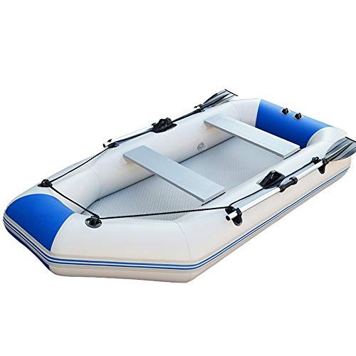 CVEUE OS Kayak Kayak 2.3 Meters 3-4 People Upgraded Rubber Boat Thick Hard Bottom Fishing Boat Motor Inflatable Boat Kayak Assault Boat Blue Kayak Paddle Holder