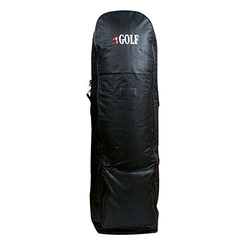sjwithus Jingolf Golf Travel Bag Cover Wheeled Black color ()