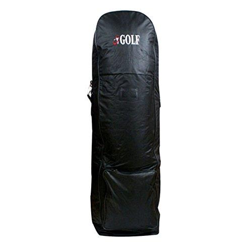 sjwithus Jingolf Golf Travel Bag Cover Wheeled Black color ()