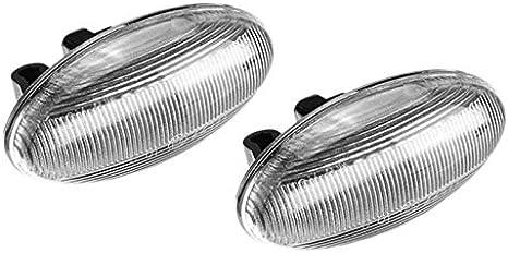 SODIAL Clignotant LED Dynamique pour Voiture Clignotant Lat/éRal Orange pour 307 206 407 107 pour
