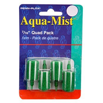 Penn Plax 4-Pack Aqua Mist Air Stone Cylinder Aerator for Fish Tank by Penn-Plax Aqua Mist Air Stone