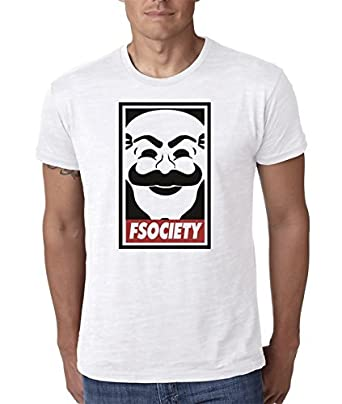 Mr Robot F Society Tee Shirt White