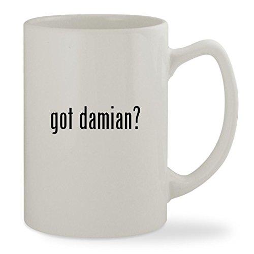 got damian? - 14oz White Statesman Sturdy Ceramic Coffee Cup Mug - Damian Wayne Costume